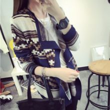 W10665G 2015 lapel colorful cardigan wool sweater design for girl Best Buy follow this link http://shopingayo.space