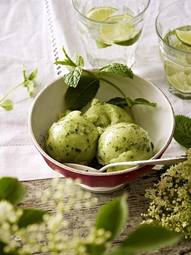 Unser beliebtes Rezept für Holunderblüten-Minz-Sorbet und mehr als 55.000 weitere kostenlose Rezepte auf LECKER.de.