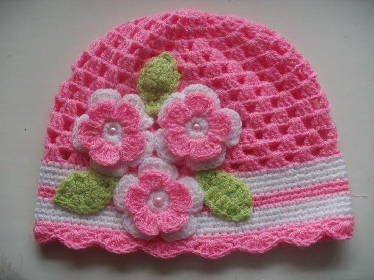 Resultado de imagen para como hacer gorros de crochet para bebe