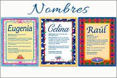Tarjetas de nombres para enviar e imprimir