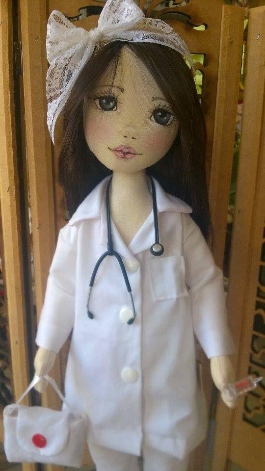 Bonecas de pano. Enfermeira. Soraia flores.