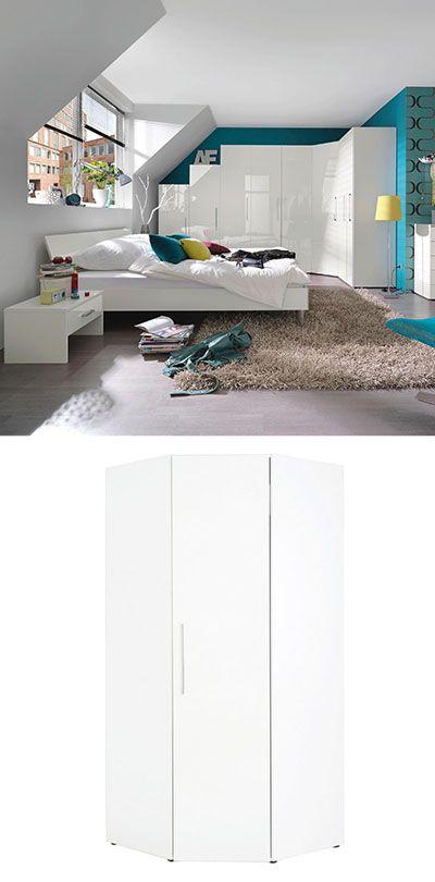 ECKSCHRANK in Weiß Schlafzimmer Pinterest - schlafzimmer mit eckschrank