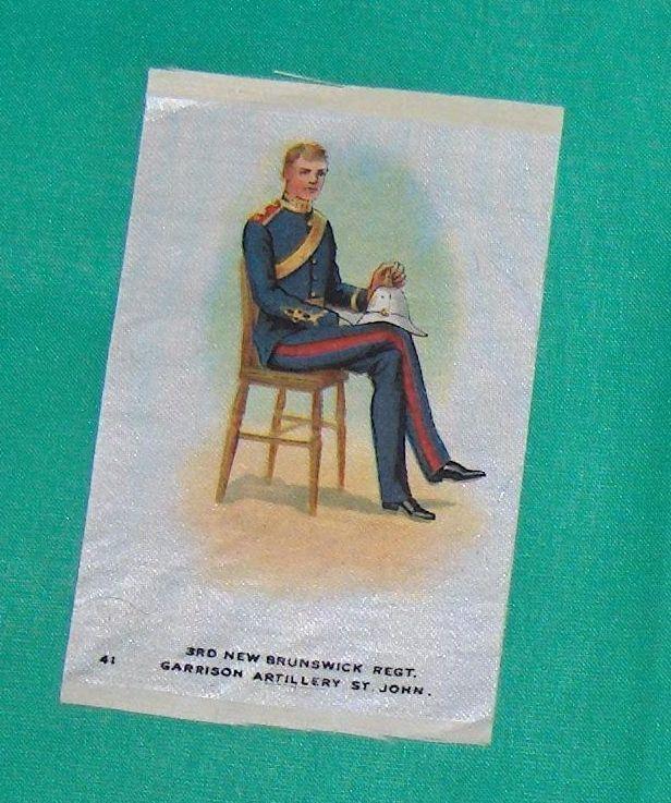 3rd New Brunswick Regt.  Garrison Artillery St.  John Cigarette Silk Number 41