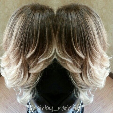 Guy tang inspired Cool blonde ombre created using hair painting and balayage highlight techniques. Healthy thanks to olaplex! I love blonde colormelt looks!  Hair by Rachel Fife @ Sara Fraraccio Salon