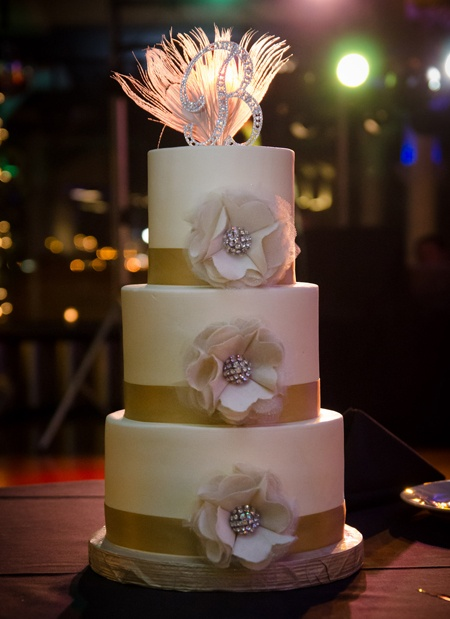 Anna Designed This Beautiful And Tasty Wedding Cake With Flowers She Made Her