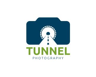 Tunnel Photography Logo design - This logo is ideal for art, photography, entertainment, media, and any related businesses.