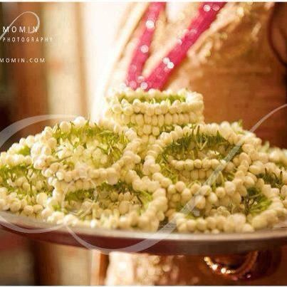 .flower bangles for guests ( mehndi ) times I miss Pakistan
