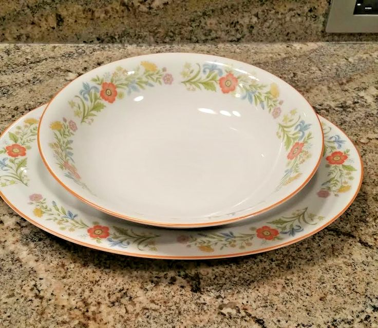 Lovely 2 PC Serving Set Castle Court Fine China - Flower Garden Pattern Japan & 18 best Fine China and Pottery Dinnerware and Accessories images on ...