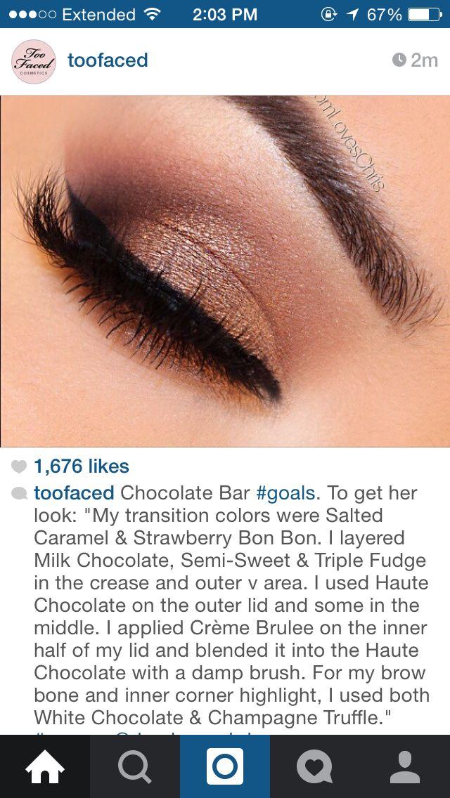Too faced chocolate bar look