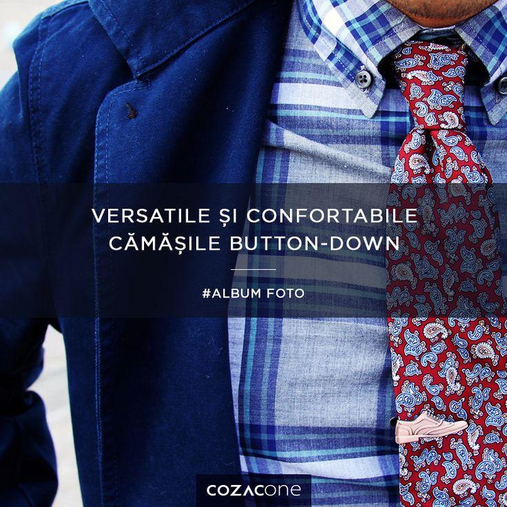 Practice şi stilate, cămăşile button-down îmbogăţesc o gamă foarte variată de ţinute masculine. Le găseşti aici: http://www.cozacone.ro/produse/?cat=camasi