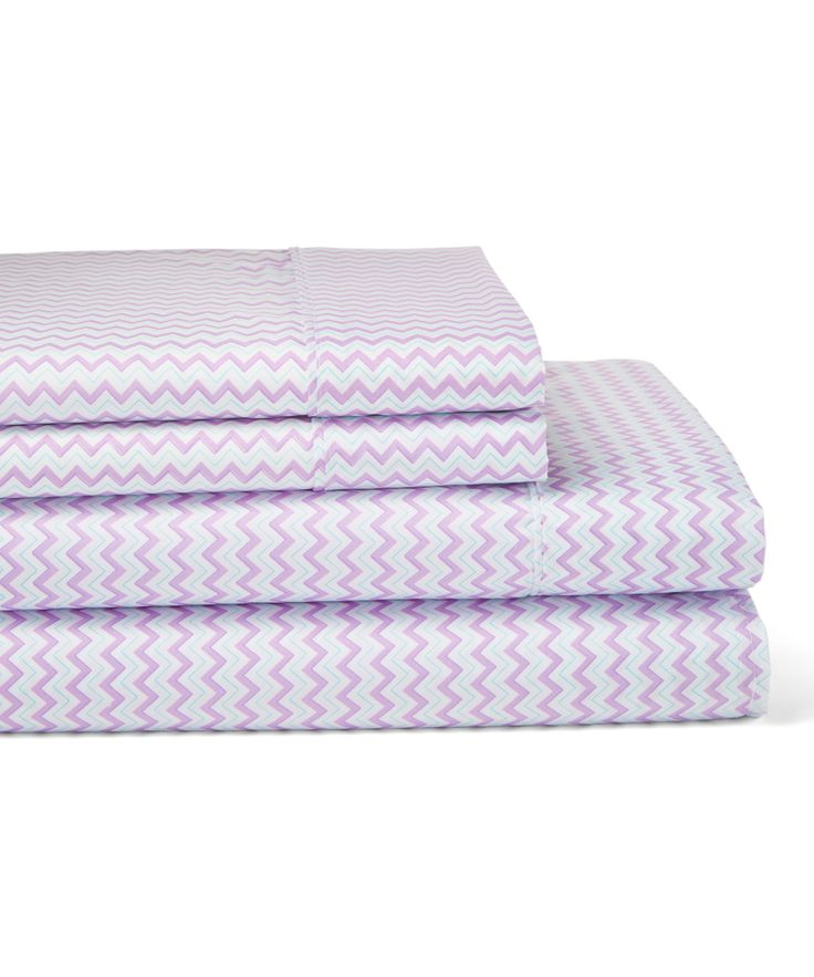 Purple Chevron Sheet Set