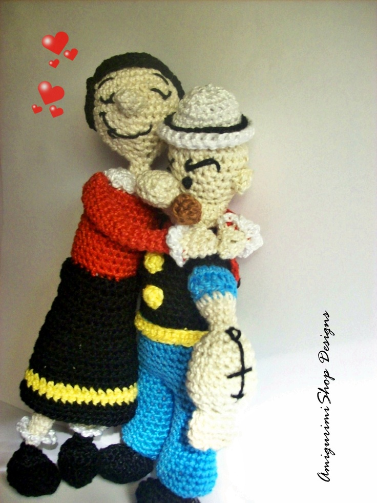 Crochet Pattern Popeye Doll : Popeye y Olivia Crochet Characters Pinterest ...