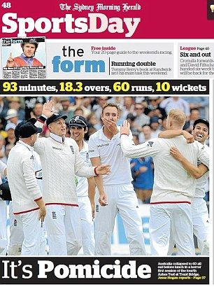 Australian newspapers and fans tear into Michael Clarke's side #dailymail