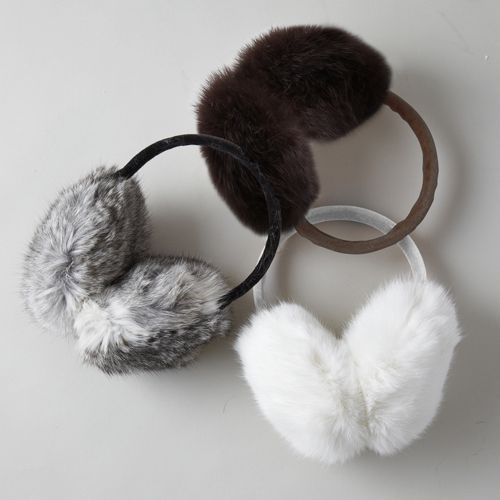 Fuzzy Fur Ear Muffs - Unique Vintage - Homecoming Dresses, Pinup & Prom Dresses.