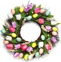 """22"""" Tulip Egg Wreaths from The Christmas Tree Shops $19.99"""