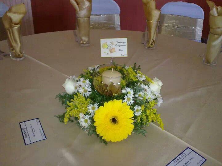 Base de flor natural y pecera con vela centros de mesa - Base de vela ...