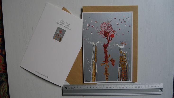 """Weiteres - Grußkarte DIN A5  Helena Sobek - """"Afrika"""" - ein Designerstück von HelenaSobek bei DaWanda"""