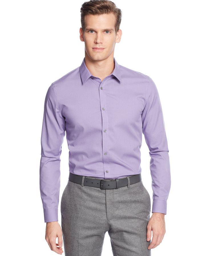 Calvin Klein Men's Infinite Cool Non-Iron Slim-Fit Shirt - Casual Button-Down Shirts - Men - Macy's