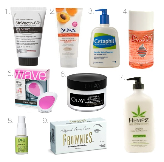 beauty products for healthy skin!