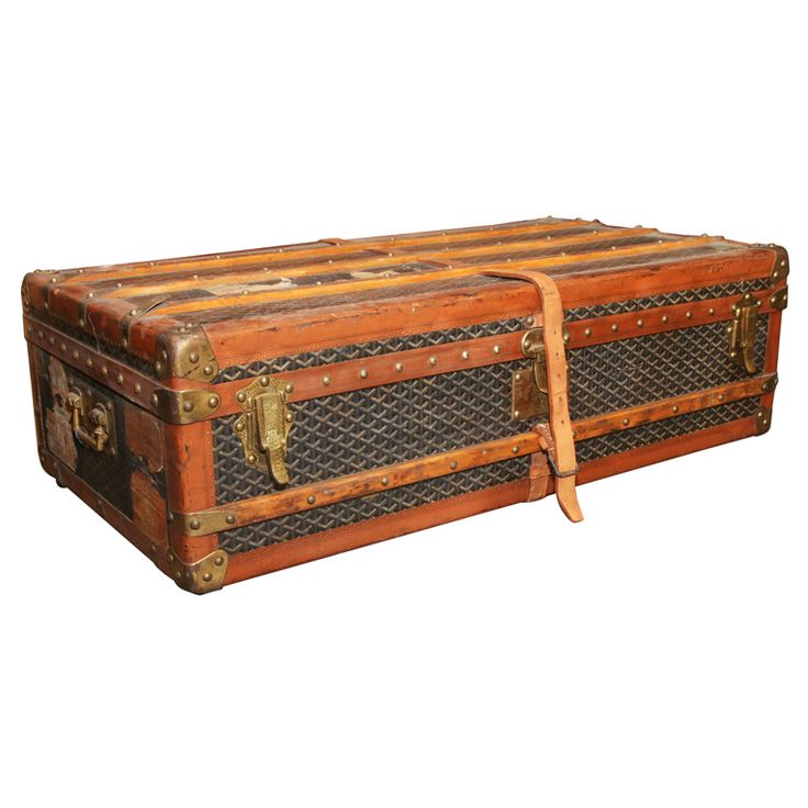 Goyard Steamer Trunk -  From a unique collection of antique and modern trunks and luggage