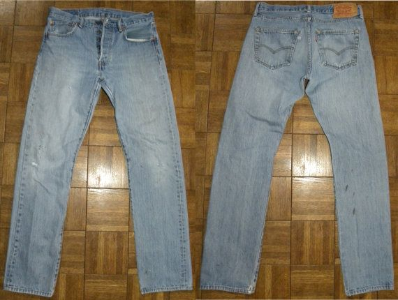 Levi's 501 Jeans / Fade / faded / by JewvenchyVintageshop on Etsy
