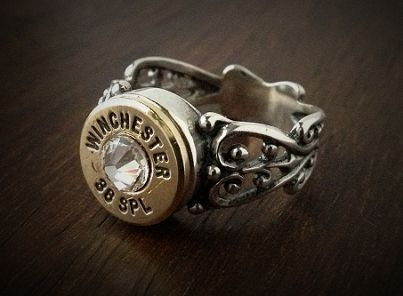 Women's .38 Special Filigree Sterling Silver Bullet Ring