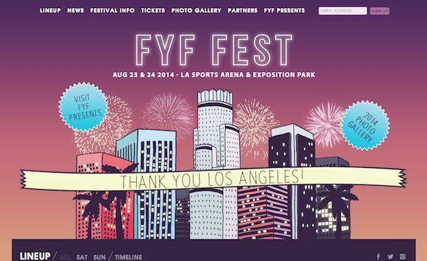 Web design for FYF