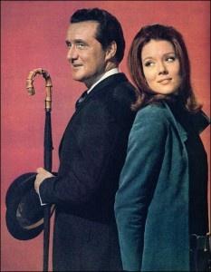 John Steed and Mrs. Emma Peel of The Avengers 1960s
