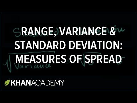Measures of spread: range, variance & standard deviation | Variance and standard deviation | Descriptive statistics | Probability and statistics | Khan Academy