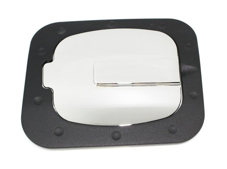 All Sales Race Style Billet Fuel Dr 7 1/4 X 6 5/8 Ring 5 3/8 X 41/2 Door -Gloss Black Ring and Chrome Door - It's no coincidence that these are the best selling fuel doors on the market.Known for their smooth operation and quality finish. Choose between a push to open feature, or a locked door for added security. All are available in severalfinishes including our new brushed chrome. Crafted from solid 6061-T6 aircraft aluminum. Installation is simple and no drilling is required for most…