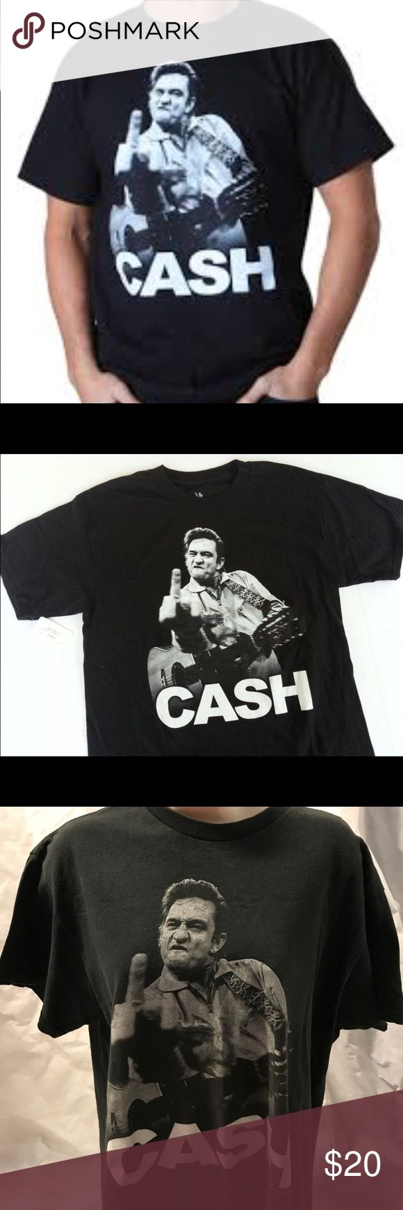 ZION Johnny cash middle finger T-shirt Zion rootswear Johnny cash middle finger size large shirt ZION Shirts Tees - Short Sleeve
