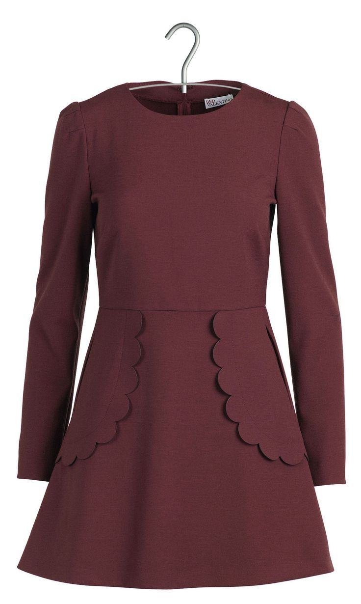 Robe à volants  Rouge by RED VALENTINO