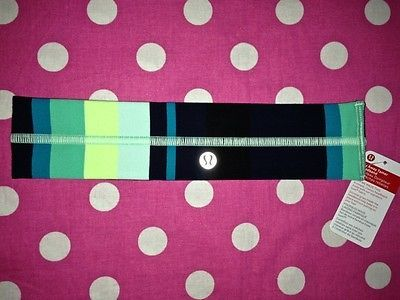 New Lululemon Fly Away Tamer Headband Blue Black sweat Band Yoga Sport Fitness | eBay
