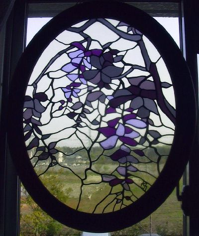 Wisteria in stained glass