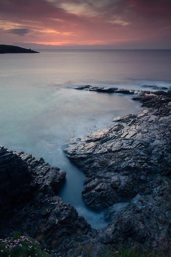 Sunset at Harlyn Bay, Padstow, Cornwall