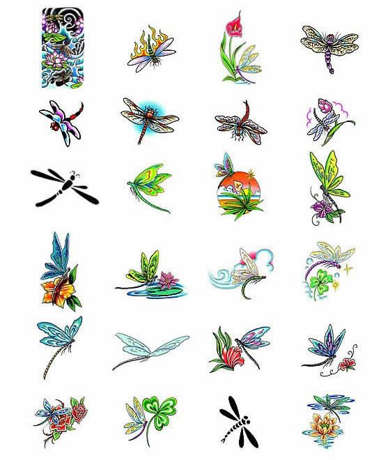 Small dragonfly tattoos @ mom traci Broadaway                                                                                                                                                      More