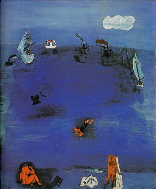// Raoul Dufy --Land and Sea  Raoul Dufy 1923 The Mediterranean-