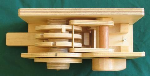 Wooden combination lock