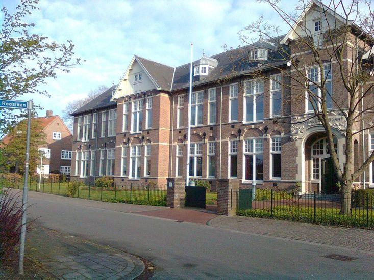 Churchillaan Coevorden In de jaren '60 Rijkskweekschool en later Rijksscholengemeenschap