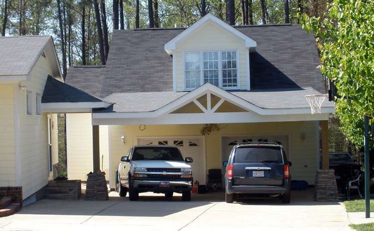 97 best images about garages carports on pinterest for Detached garage with carport