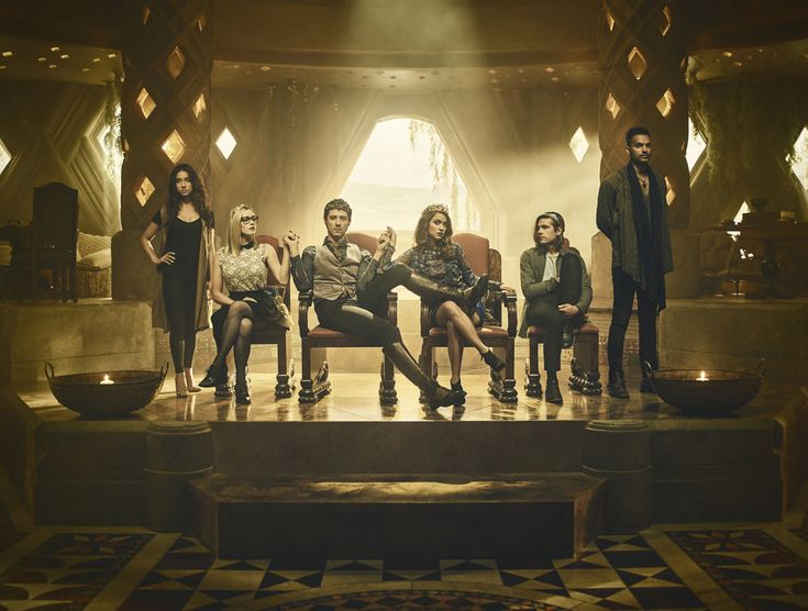 THE MAGICIANS Season 2 Cast Photos Stella Maeve, Olivia Taylor Dudley, Hale Appleman, Summer Bishil, Jason Ralph, Arjun Gupta