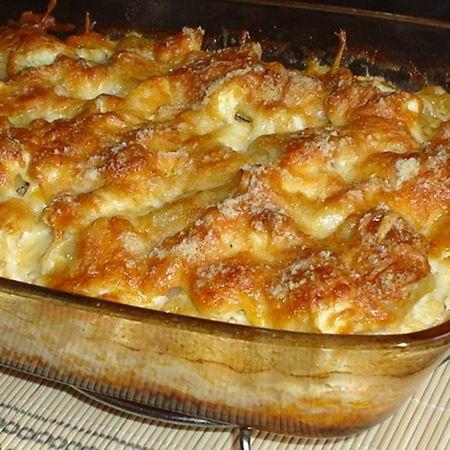 Rakott krumpli ropogós sajtkéregben