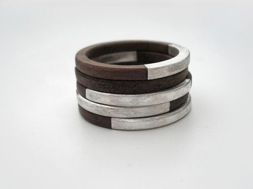 Silver and wood