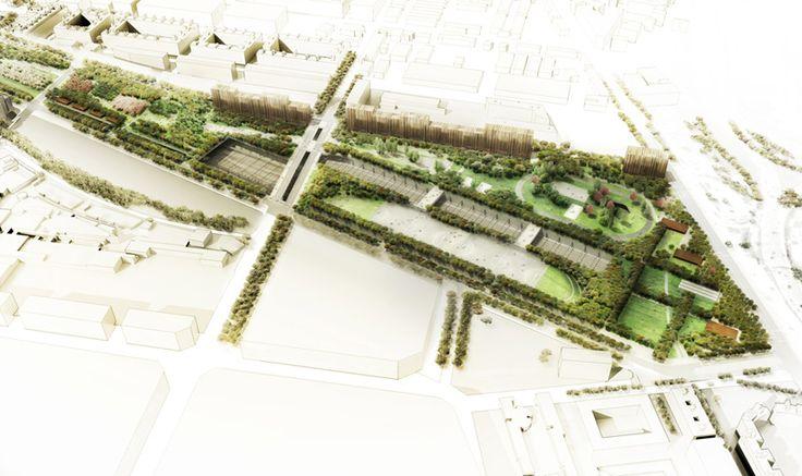 Landarch Urbandesign West 8 Sagrera Linear Park Winning Design Landscape Architecture