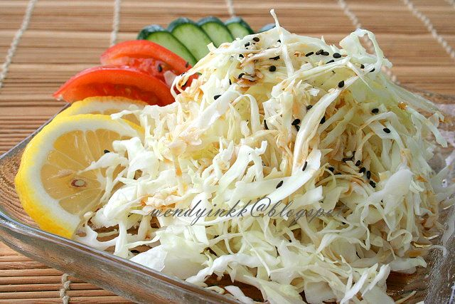 Table for 2.... or more: Cabbage Salad with Chuka-fu Dressing - Easy Japanese Fare #3