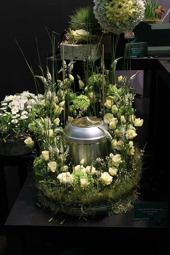 Dcor durne  Hommage  Urne Funrailles und Deco fleur