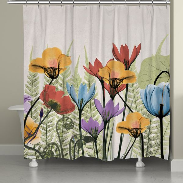 Laural Home X-Ray Flowers Shower Curtain (71-inch x 74-inch)✖️More Pins Like This One At FOSTERGINGER @ Pinterest✖️