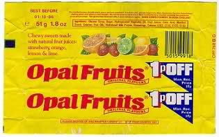 Retro sweets - before there was Starbursts, there was Opal Fruits!