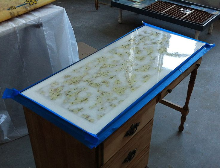Table top with art resin laminate resin pinterest for Can you paint formica table top
