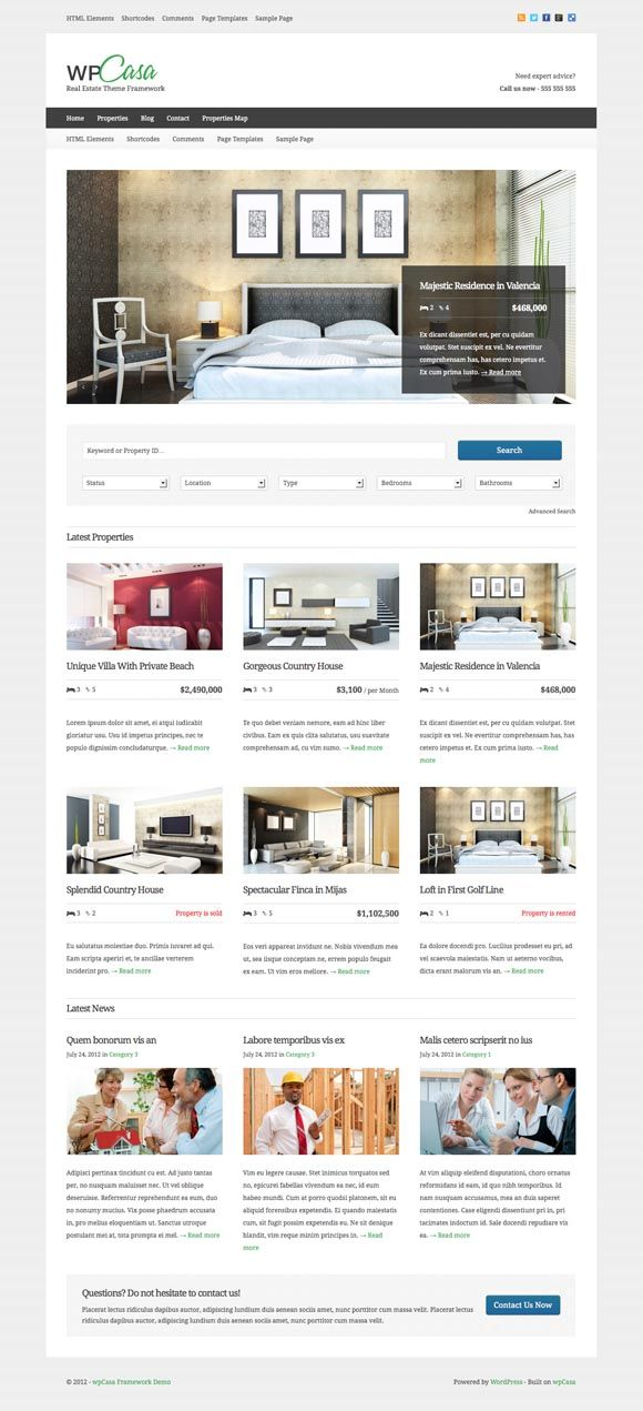 WpCasa WordPress Real Estate Theme